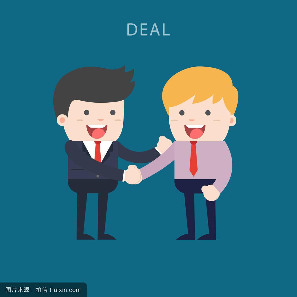 生意人握手.生意人和生意人图片