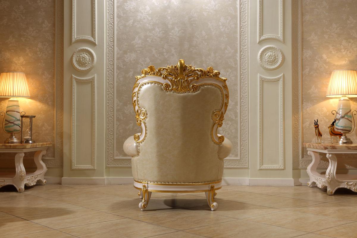 沙发 单人位 象牙白家具图片