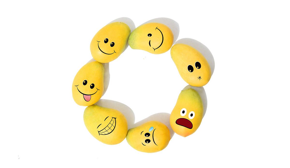 美食,芒果图片,表情包,芒果人,创意,有趣,简约,素材,可爱,黄色,动画图片