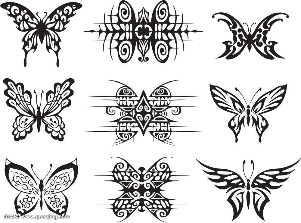 电影,a电影,黑白,线条,设计,抽象,装饰,插画,简单,部族,纹身,蝴蝶图片id昆虫宣传设计图片