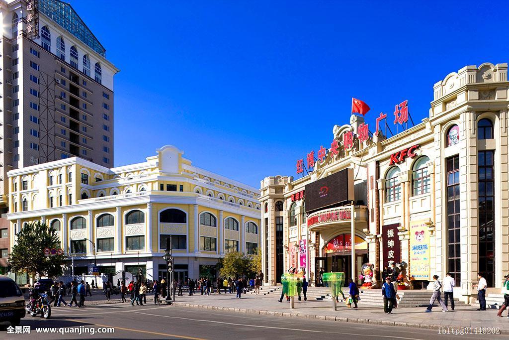 中心大街,哈尔滨,黑龙江,亚洲图片