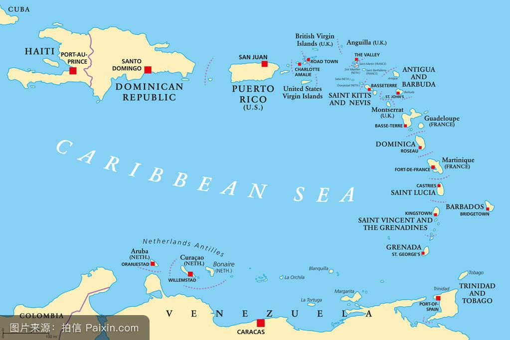 圣文森特和格林纳丁斯,巴巴多斯,西,巴布达岛,马提尼克,多米尼加图片