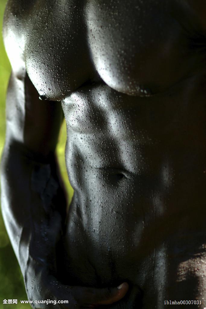 非洲式发型,美国黑人,美洲,运动员,黑色,身体,捆绑,胸部,暗色,男性图片