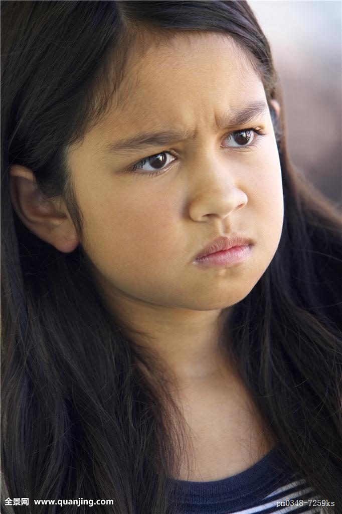 女孩开心和伤心的表情分享展示