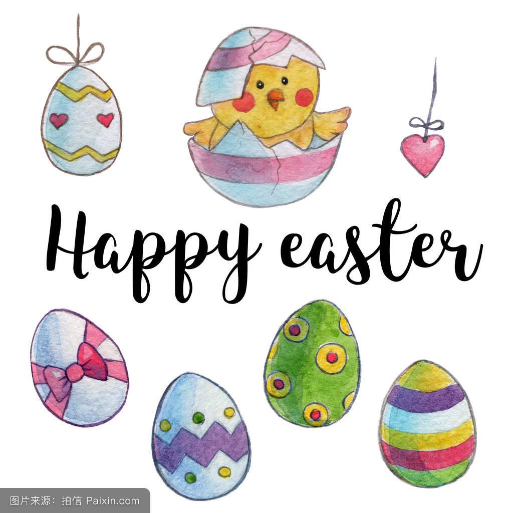复活节彩蛋,孩子们,妈妈的关心,明信片,新出生的,心,动物,幼儿园,婴儿图片