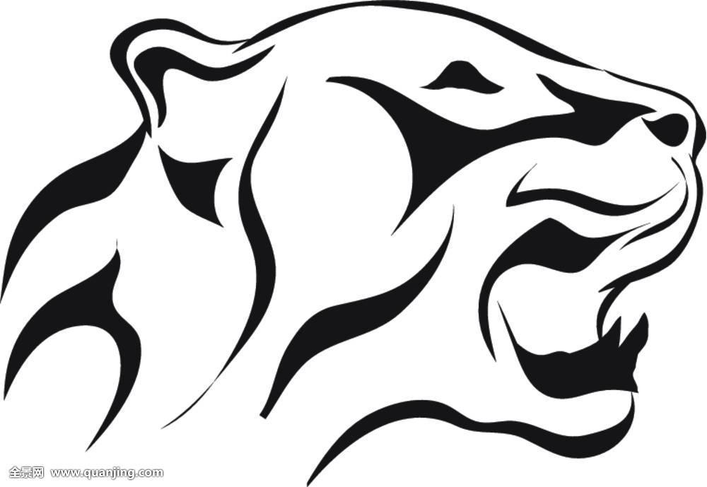 豹,纹身,设计,抽象,部族,象征,剪影,图案,装饰,自然,艺术,动物,隔绝图片