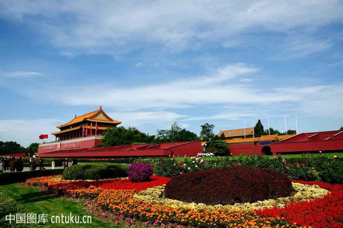 北京,中国,大同,雕塑,都市风光,非都市风光,宫殿,故宫,花,花坛,建筑图片