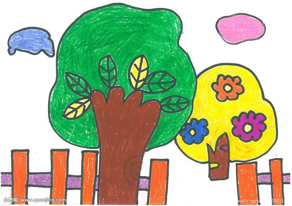 快乐的森林儿童画分享展示图片