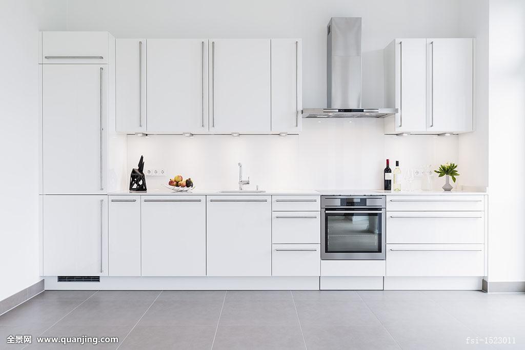 现代,厨房,设计,白色,柜子图片