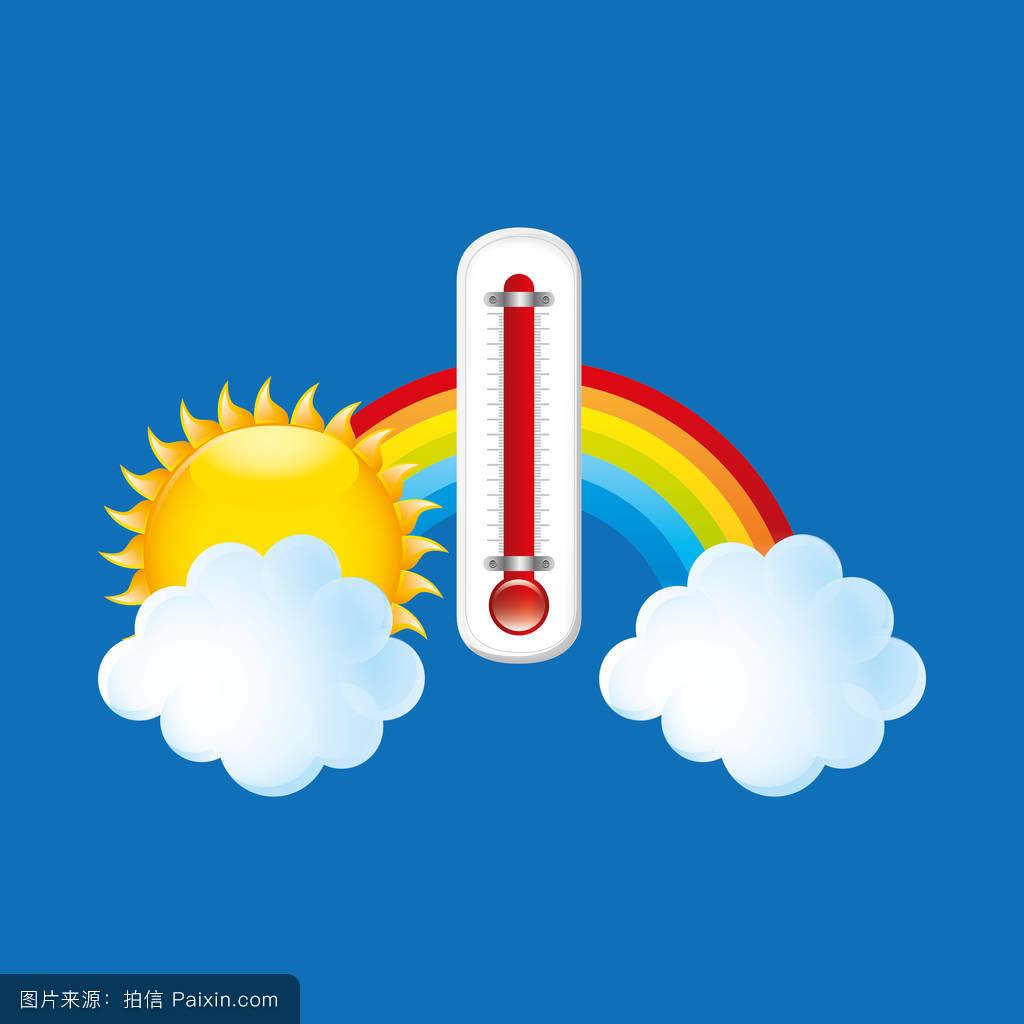 多云的天气符号-气象符号图案大全/天气预报的符号//.图片