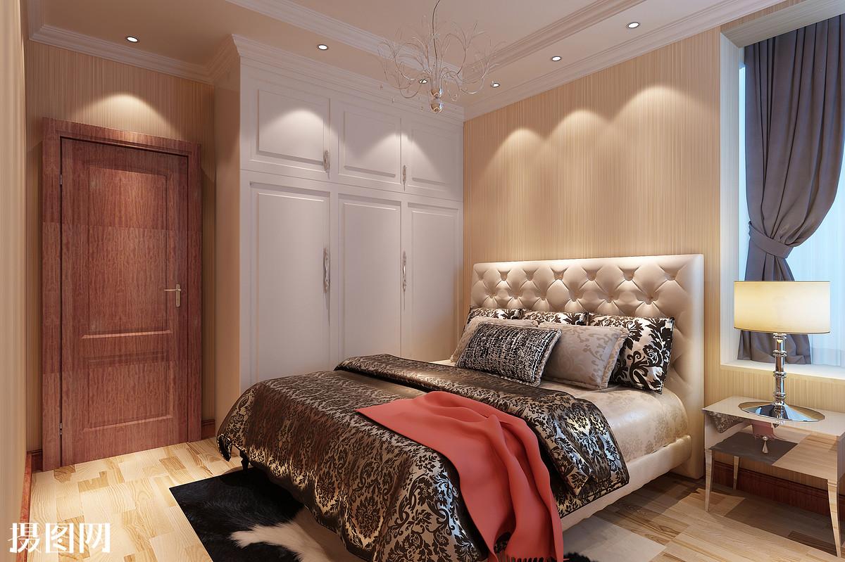 欧式卧室,欧式效果图,效果图,