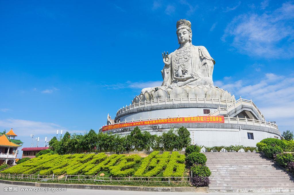 水平构图,东莞市,广东省,建筑,旅游,观音塑像,观音山摄影,彩色图片图片