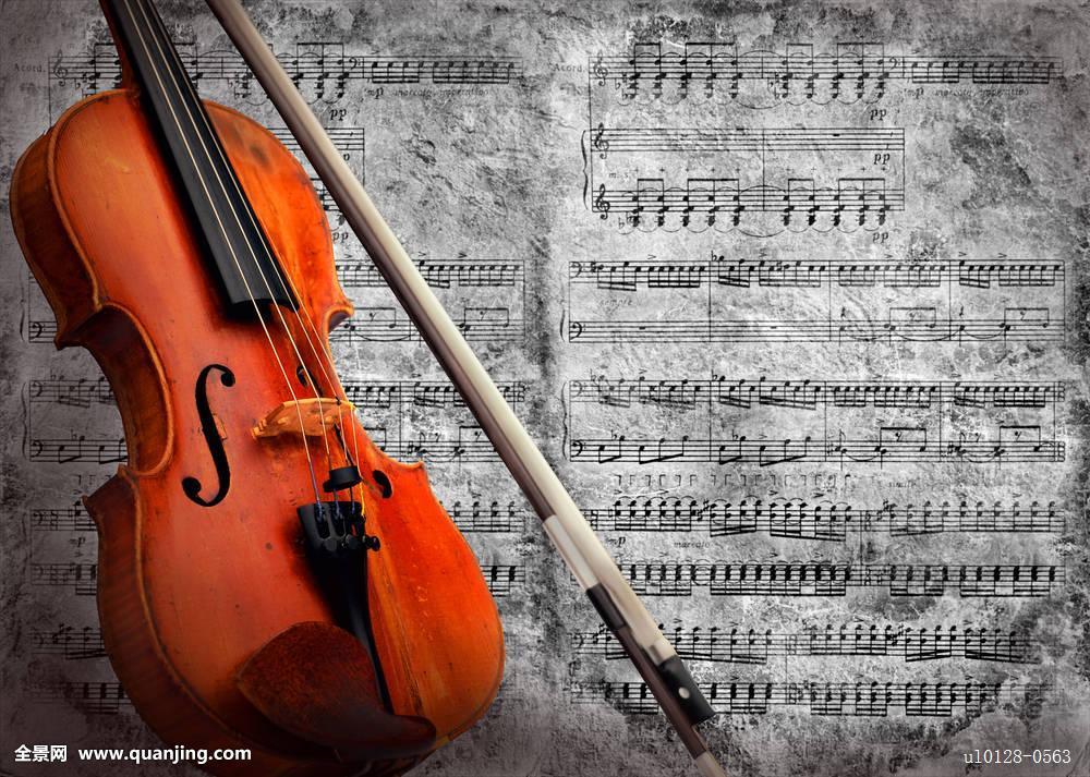 复古小提琴图片手绘分享展示图片