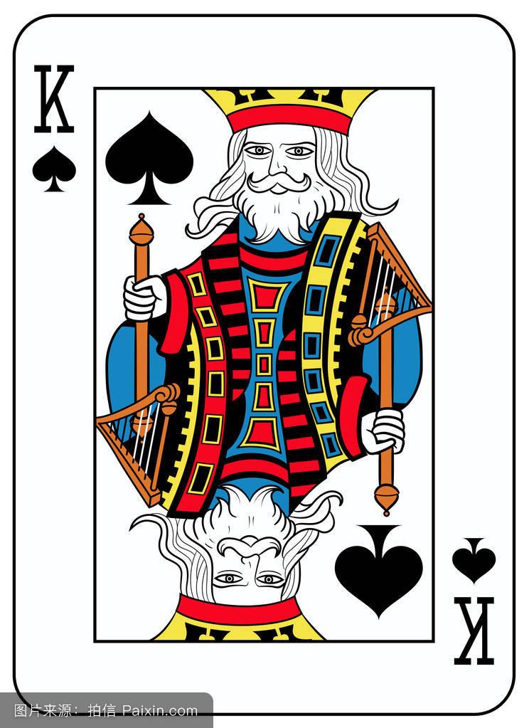 蓝色,扑克牌,符号,国王,扑克,游戏,暴发户,玩,卡片,框架,形状,赌徒