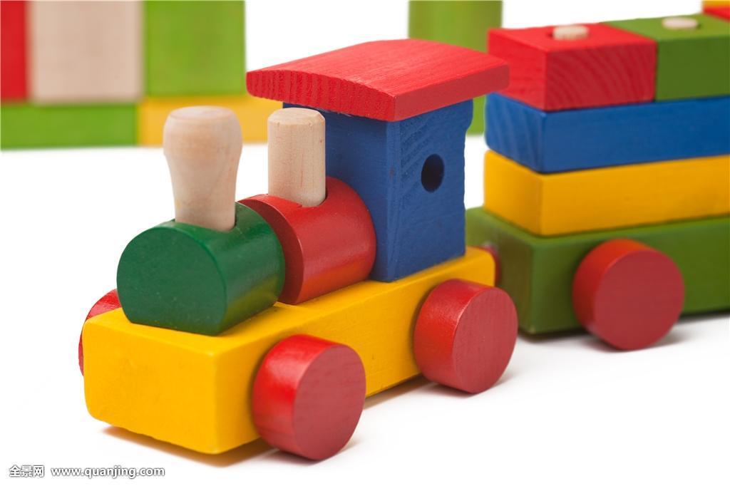 木质玩具列车交通工具旅行铁路木头引擎彩色积木涂绘教育天津河北区玩闹娃娃图片