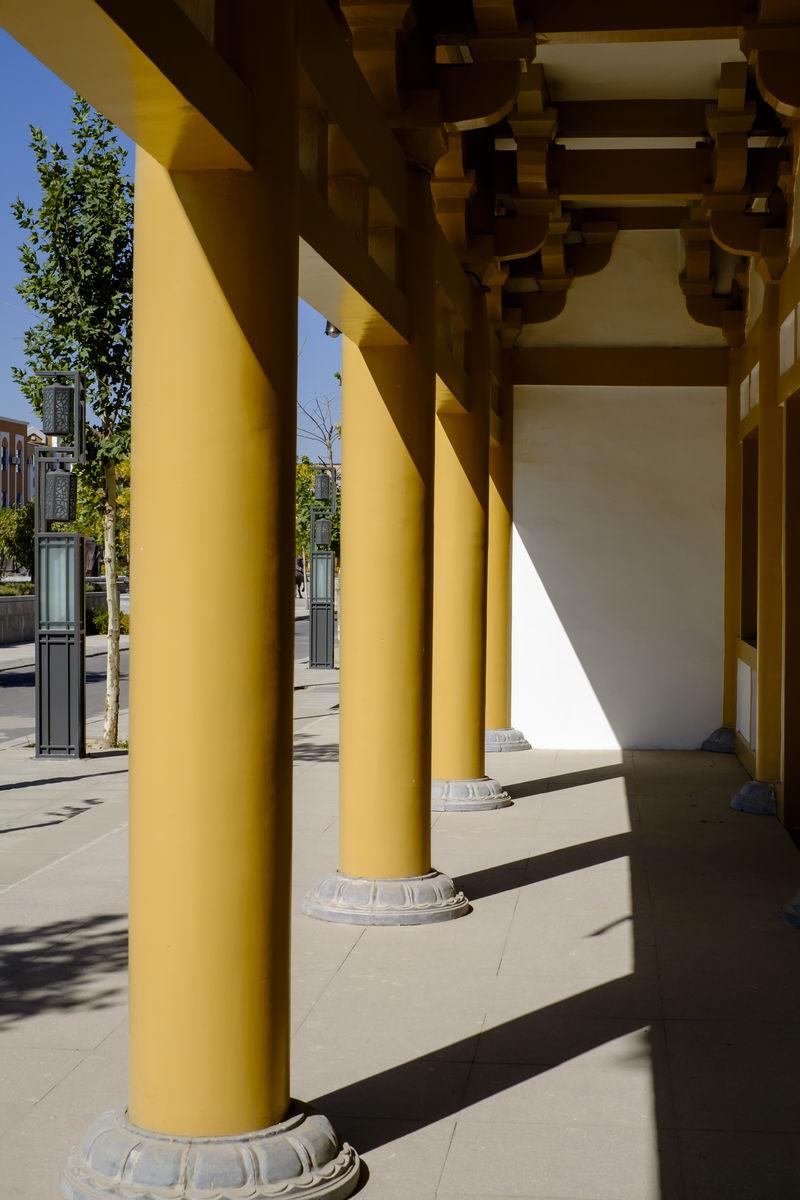 柱子,寺院,廊柱,寺庙建筑,佛教建筑,仿古建筑,中式古典建筑,中国元素图片