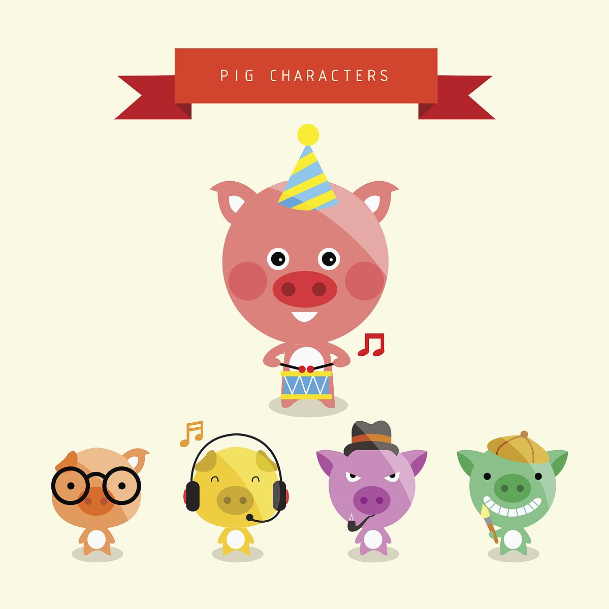 字符表情猪分享展示图片