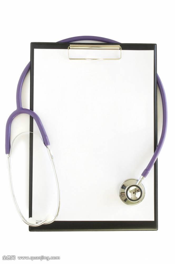 写字板,书页,听诊器图片