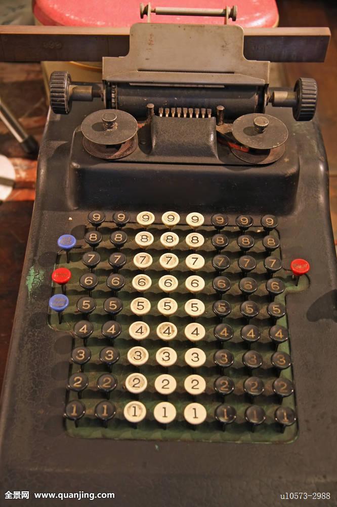 复古,旧式,中央处理器,电脑,数字,老,古老,废弃,机器,按键,键盘图片