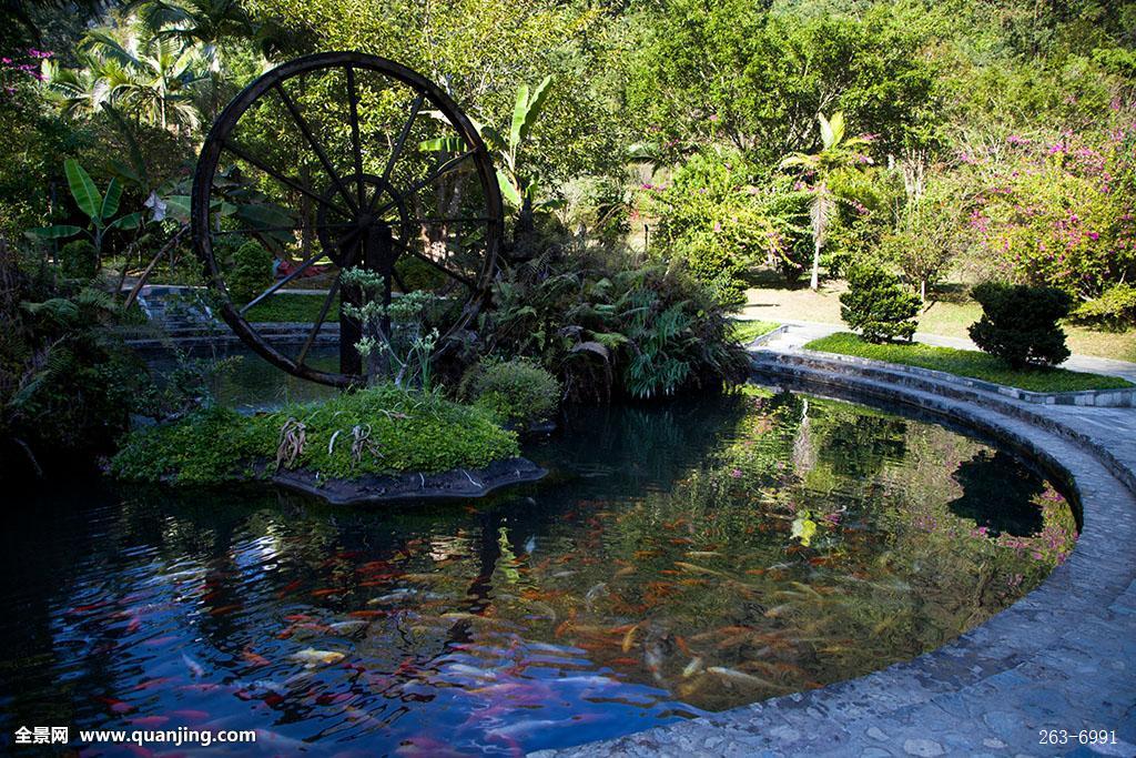 小桥流水森林风景画分享展示图片