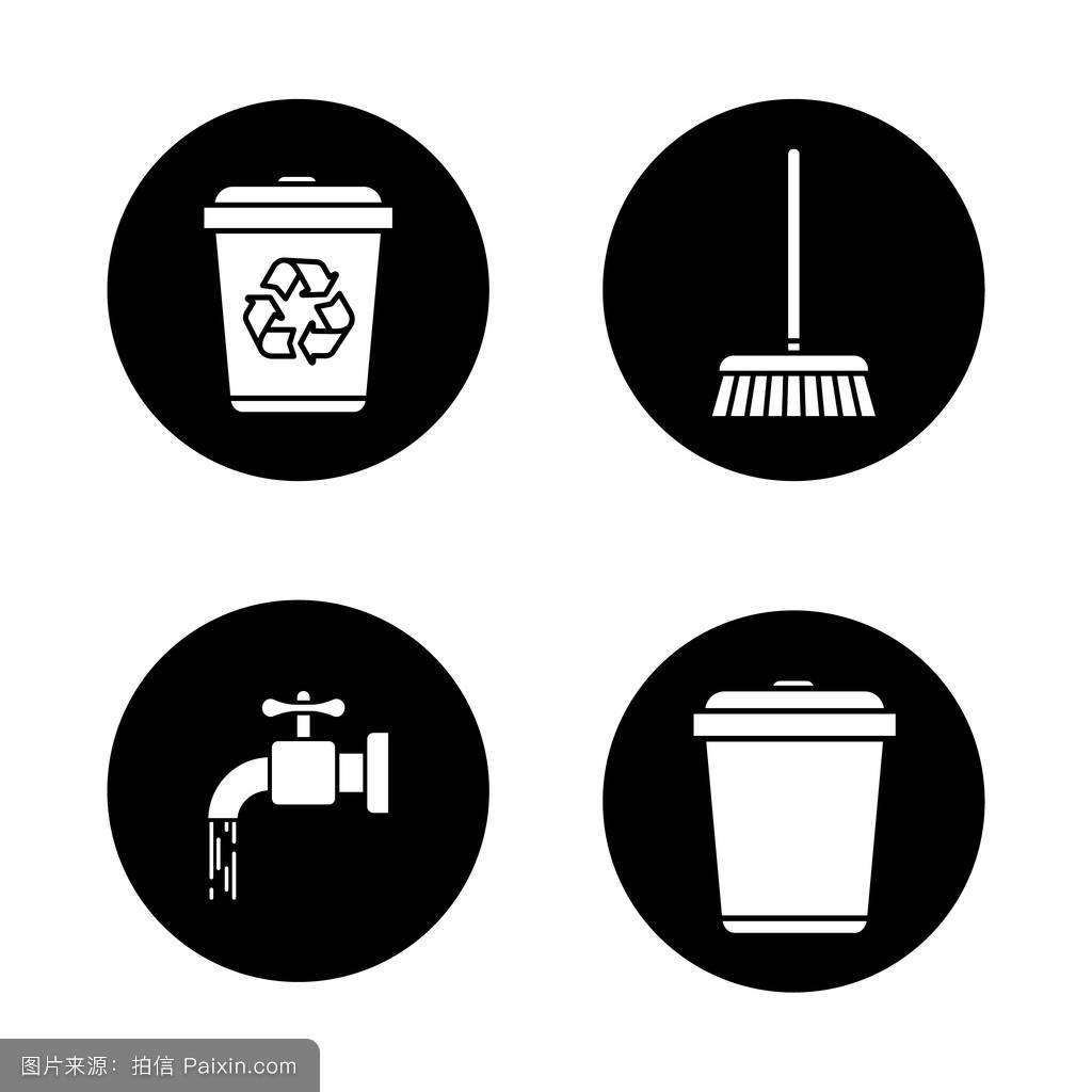 资源环境偶像污染生态的保护负空间设置拖把垃圾桶水龙头图片