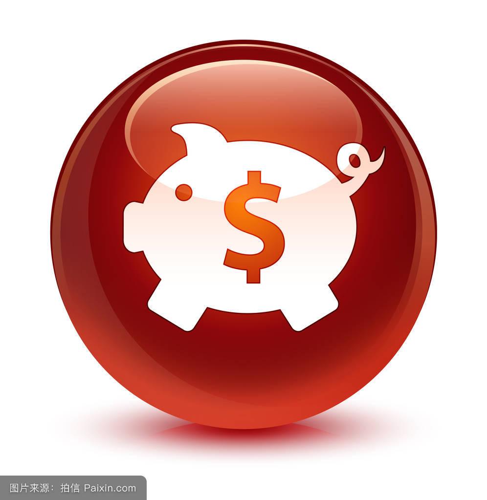 节约,箱,签名,信用,钱,棕色的,符号,插图,按钮,存款,小猪,美元,货币图片