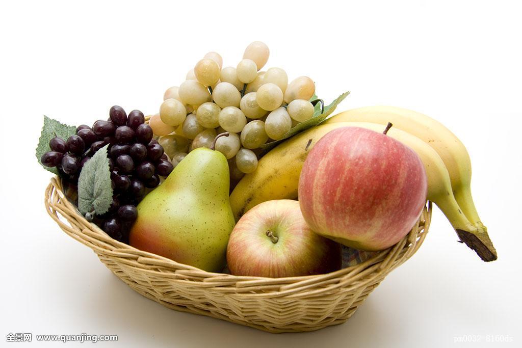 食物,食粮,葡萄,水果,苹果,梨,葡萄串,维生素,生食,素食,篮子,饮食图片