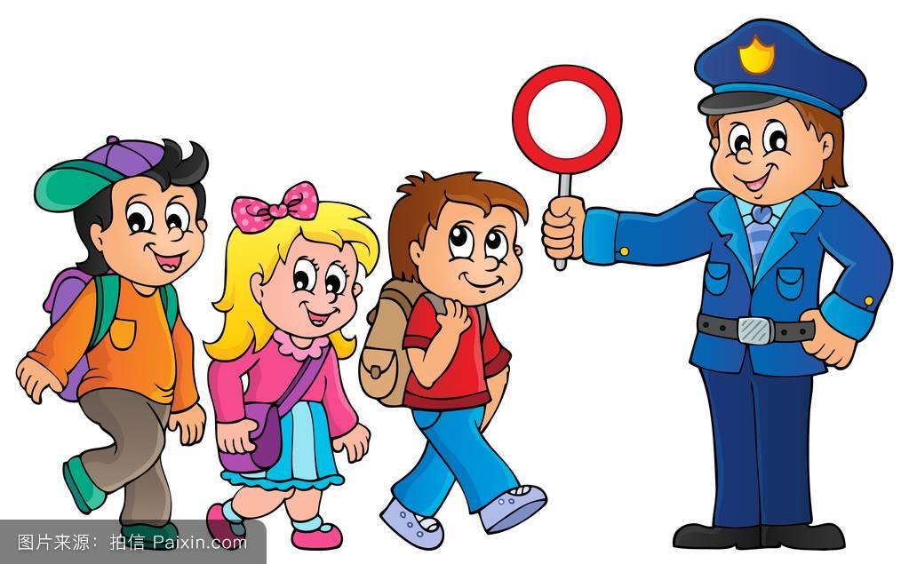 eps10,女生,权威,向量,警方,书包,学童,小学生,童年,学校,幸福的图片