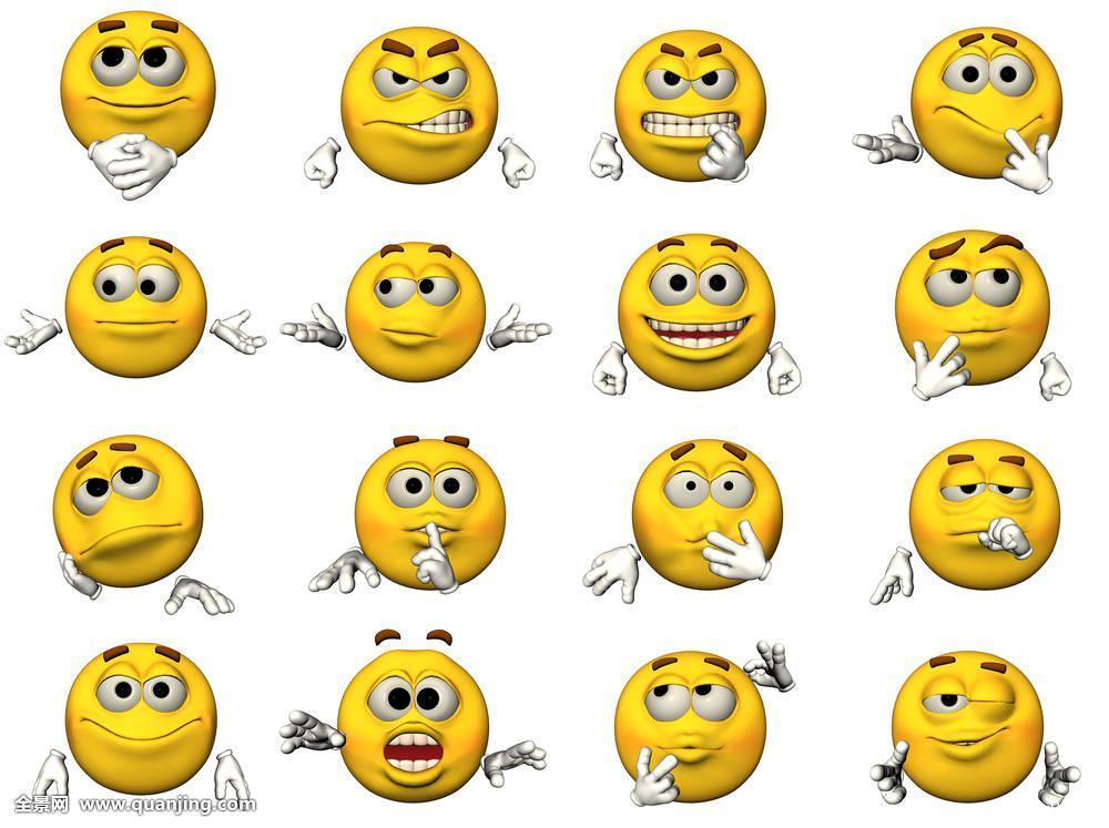 隔绝,动画表情,插画,微笑,眨眼,愤怒,疯狂,惊奇,吃惊,高兴,天使般图片