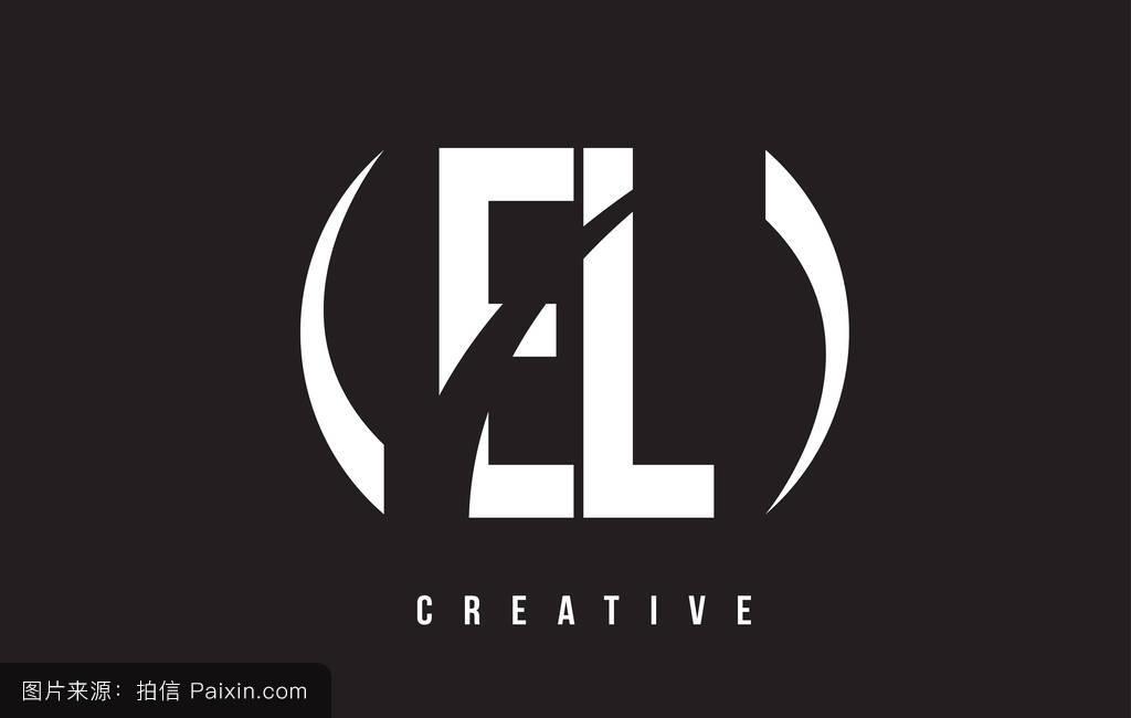 _el e l的白色字母标�%