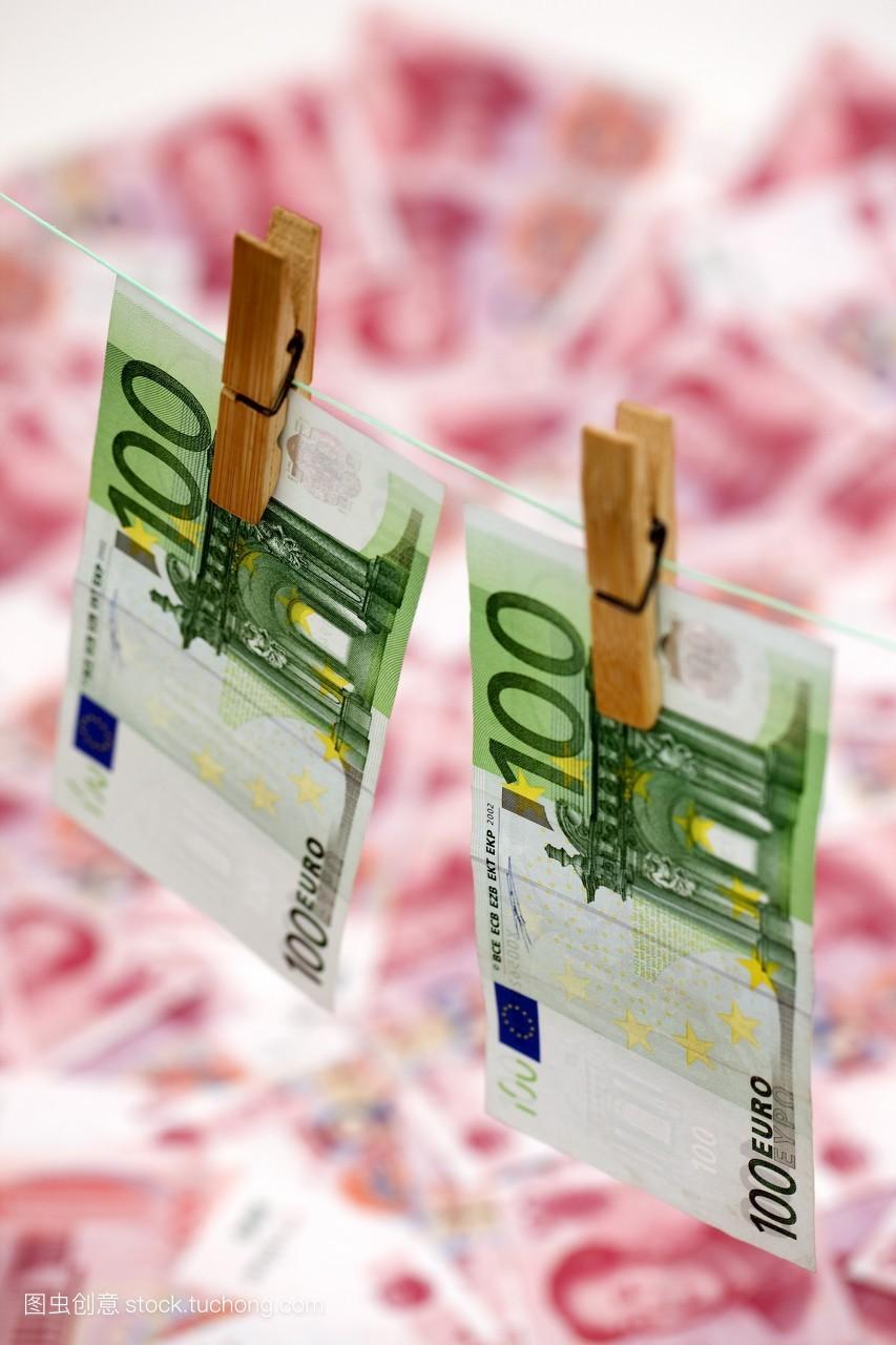 人民币,概念,财富,理财,晾衣夹,储蓄,价值,整齐,汇率,金融危机,欧元图片