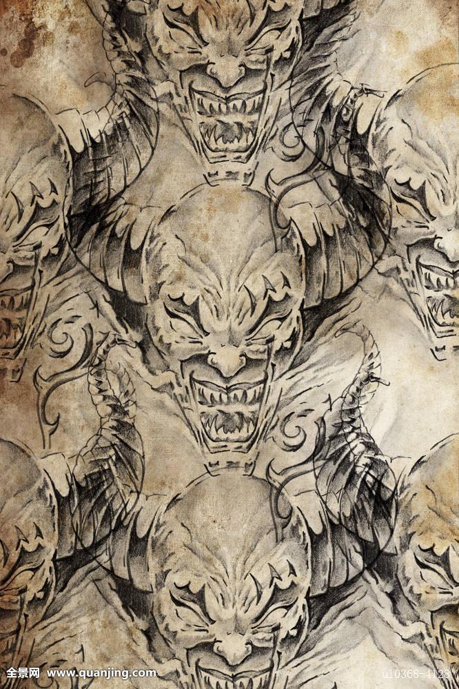 月亮,图案,自然,涂绘,纸,复古,生锈,形状,剪影,素描,风格,象征,纹身图片