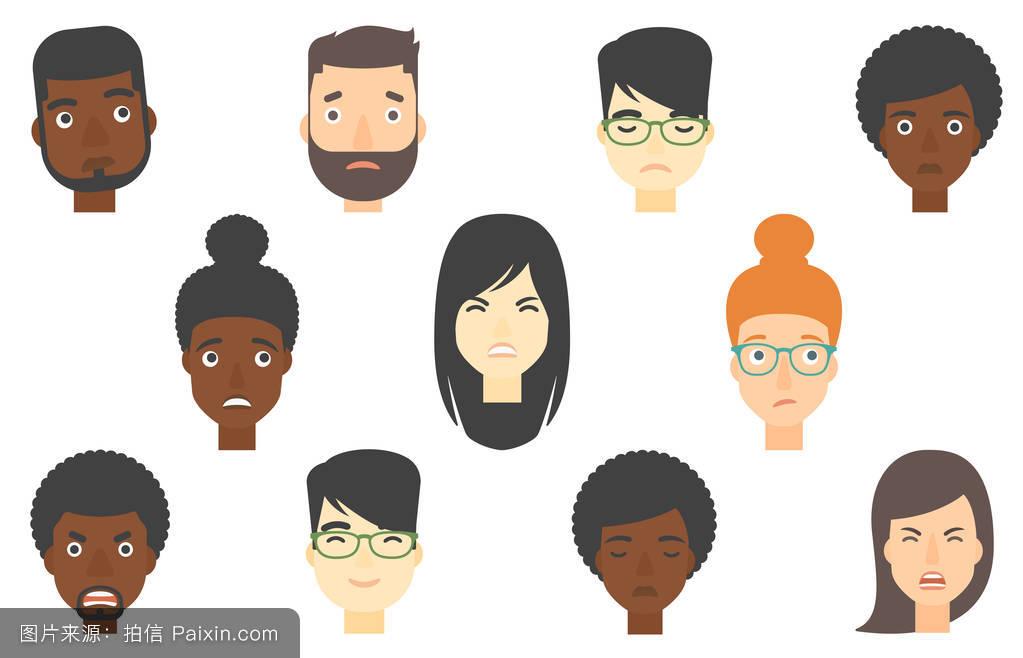 表情不同的人.图片