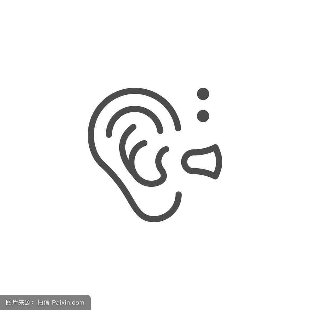 听���!�`iyn��+��n���'���_符号,线,听,感知,沉默,签名,健康的,感觉,分离,概述,可听,听觉的