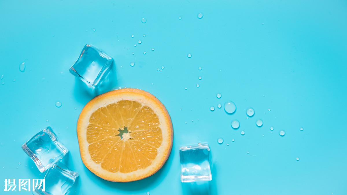 酸,美感,唯美,静物,壁纸,蓝色背景,解暑,消暑,休闲,有机,维生素,柠檬图片
