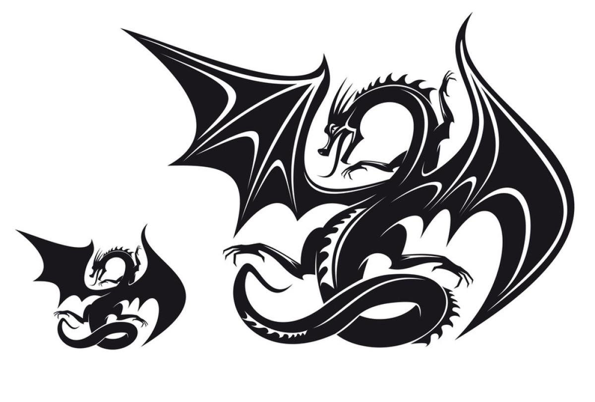 幻想,绘画插图,吉祥物,龙,设计,神话,矢量图,头骨,图表,图腾,纹身图片