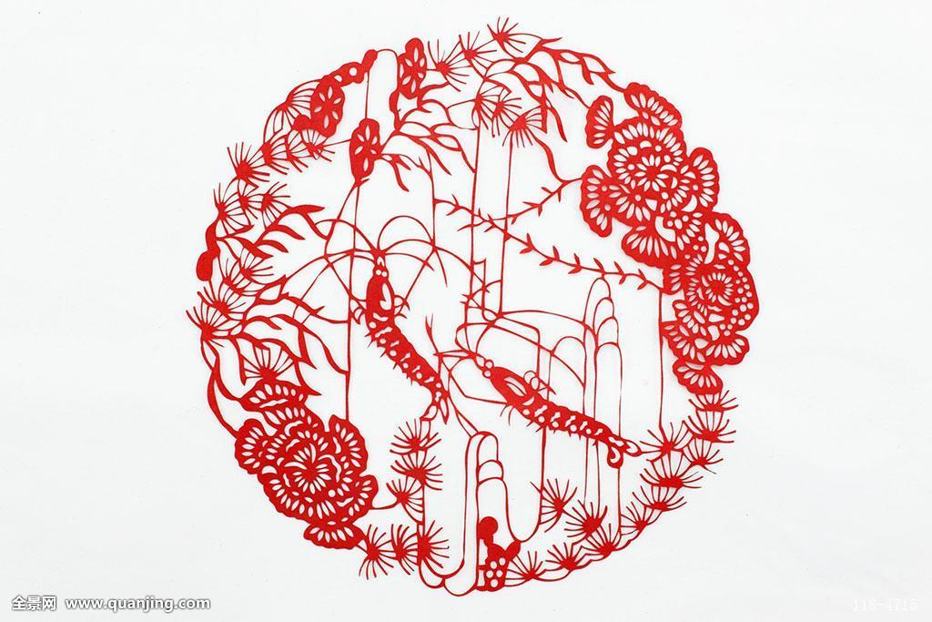 白色背景,影棚拍摄,水平构图,东方元素,概念,传统创意,红色,中国元素图片