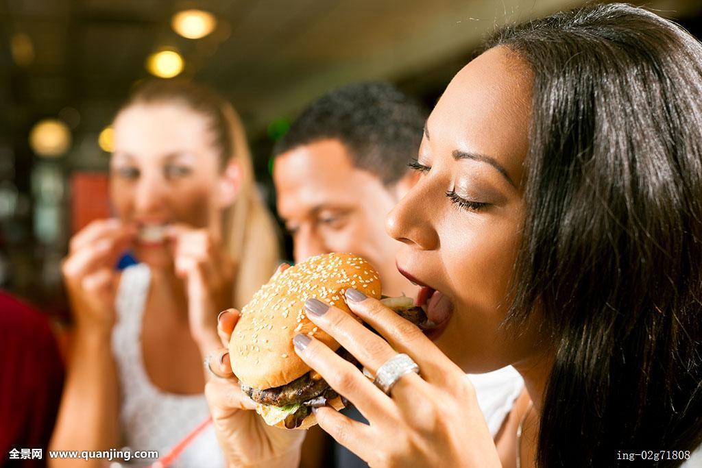 食欲,女朋友,男朋友,拿着,不同,年轻,美女,生活方式,情侣,人,美国人图片