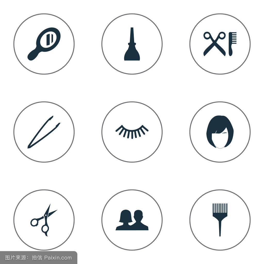 镜子,男女通用,装饰品,发型设计,工作,现代的,剪切,制作,基础,发型