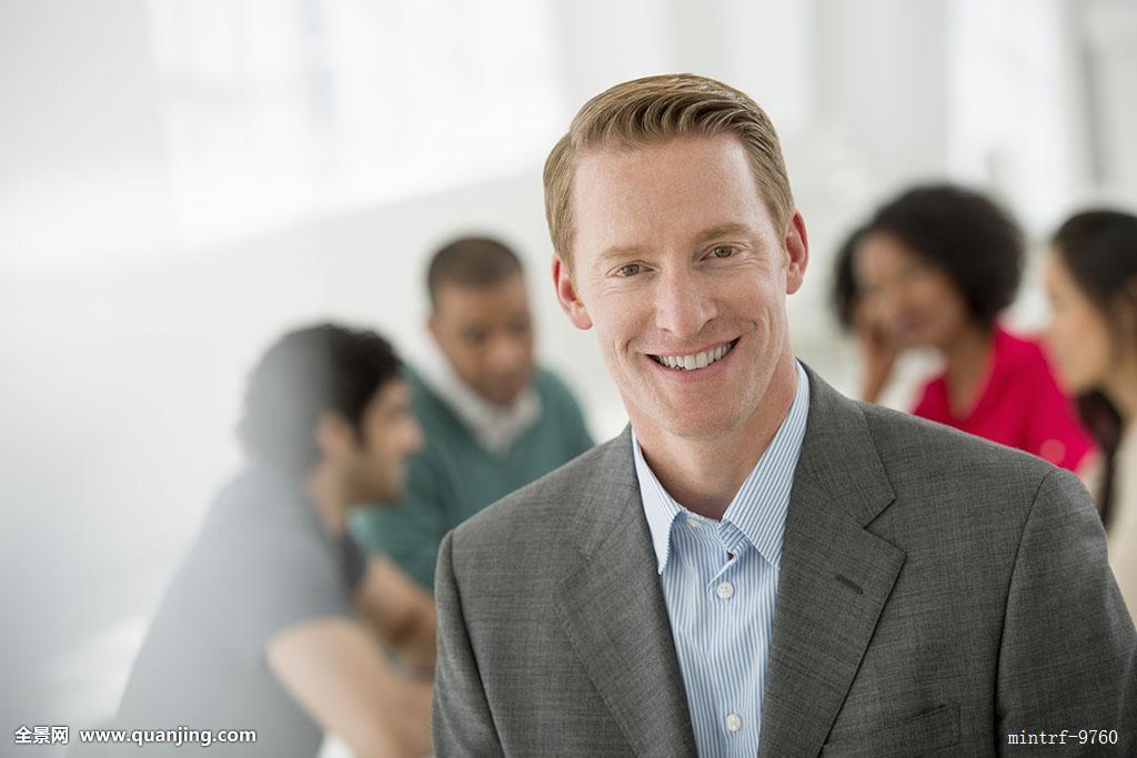 商务会议,一个,男人,微笑图片