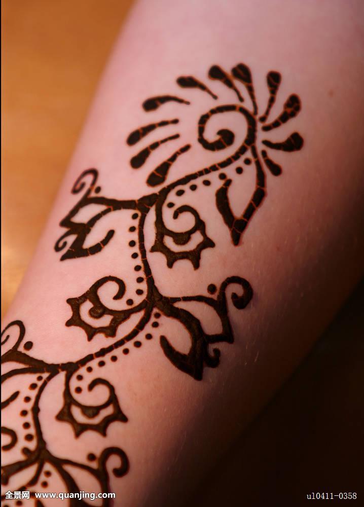 指甲花纹身图片