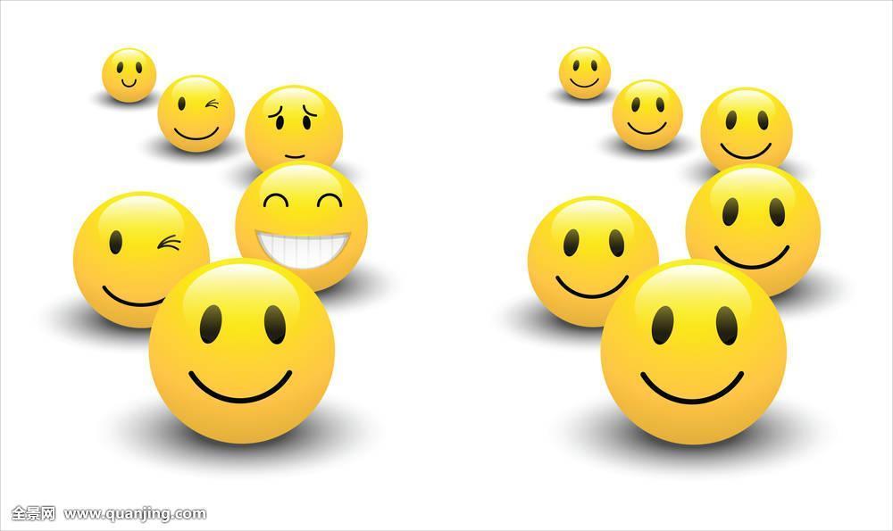 插画,微笑,高兴,脸,表情,悲伤,情感,卡通表情,眼睛,可爱,眨眼,球