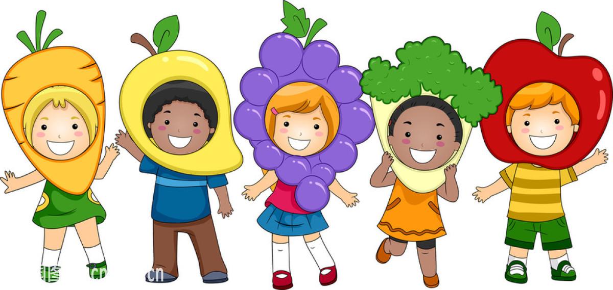 蔬菜,水果,戏剧表演,学龄前儿童,学习,演说,衣夹,艺术,有营养的,幼儿图片