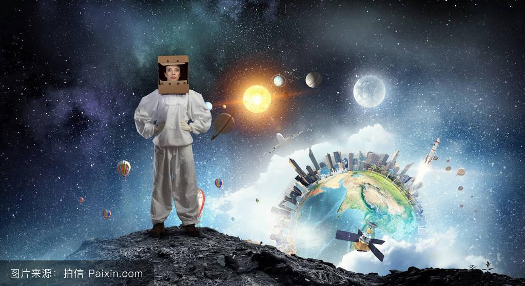 科学,梦想,女性的,资源管理器,探索,设备,空间,银河,宇航员,未来,天文图片