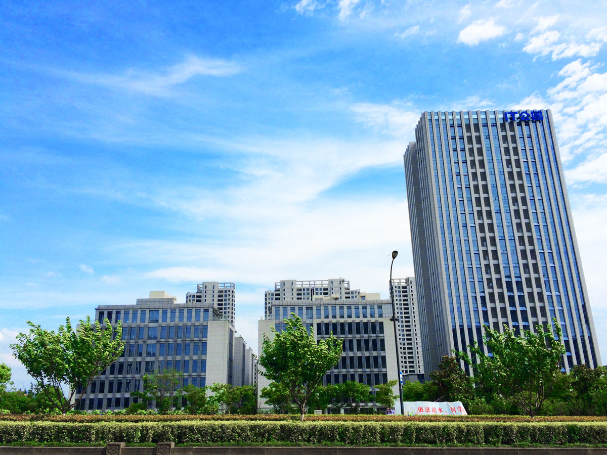 城市建筑,高楼大厦,城市风光,高层建筑,杭州,未来科技城,梦想小镇图片