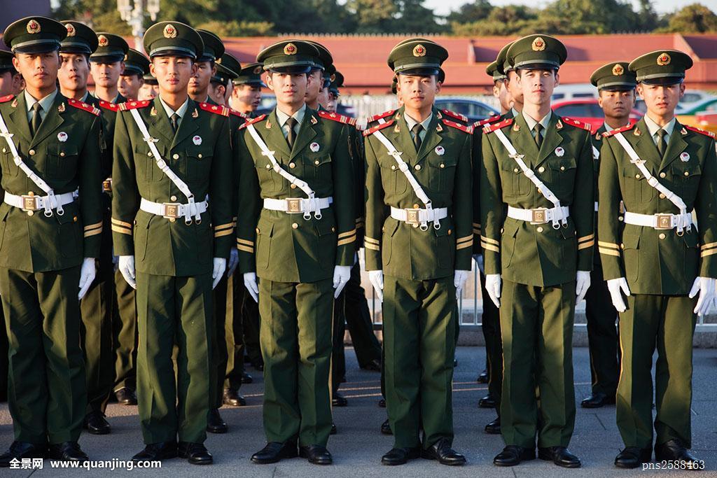 军人立定_中国,北京,释放,军队,解放军,军人,天安门广场