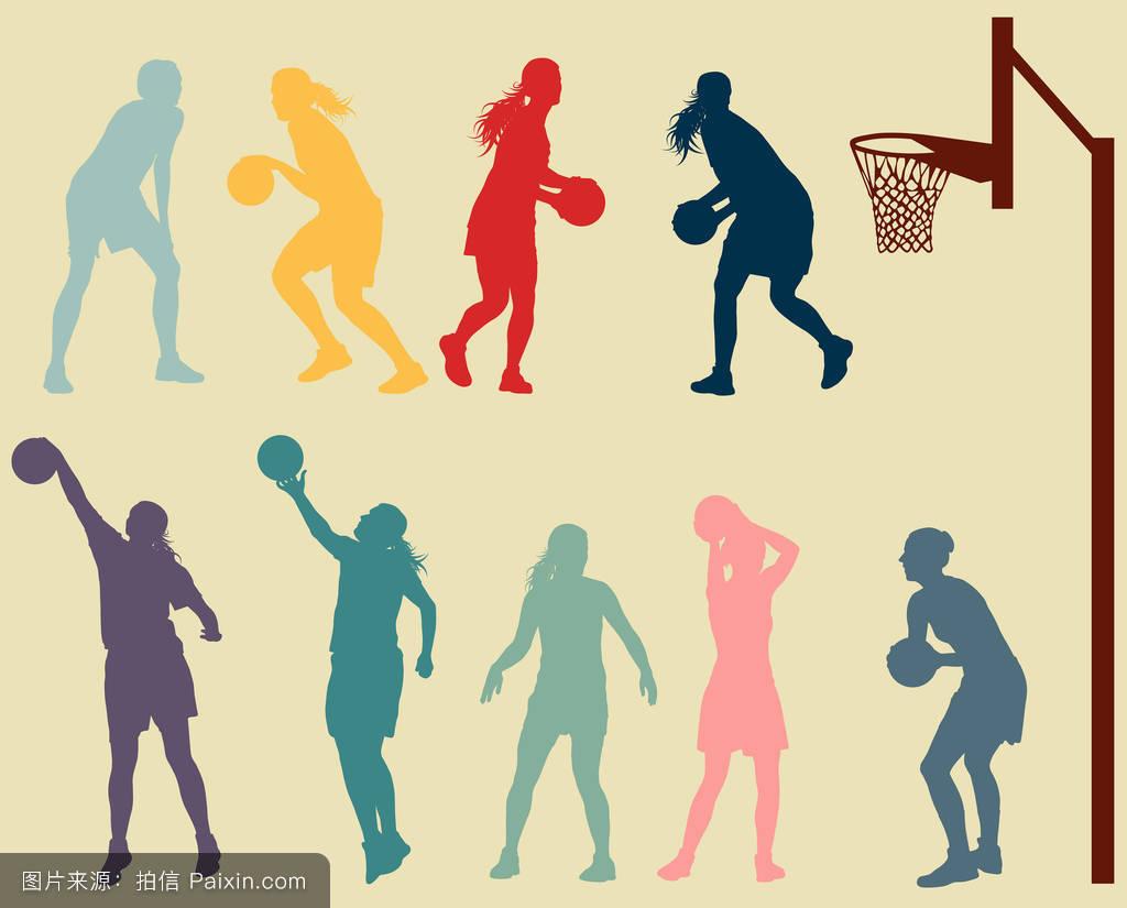 玩,卡片,活动,健康的,在户外,身体,轮廓,篮子,运动,建造,篮球架,图形