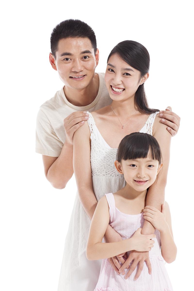 开心的一家人图片