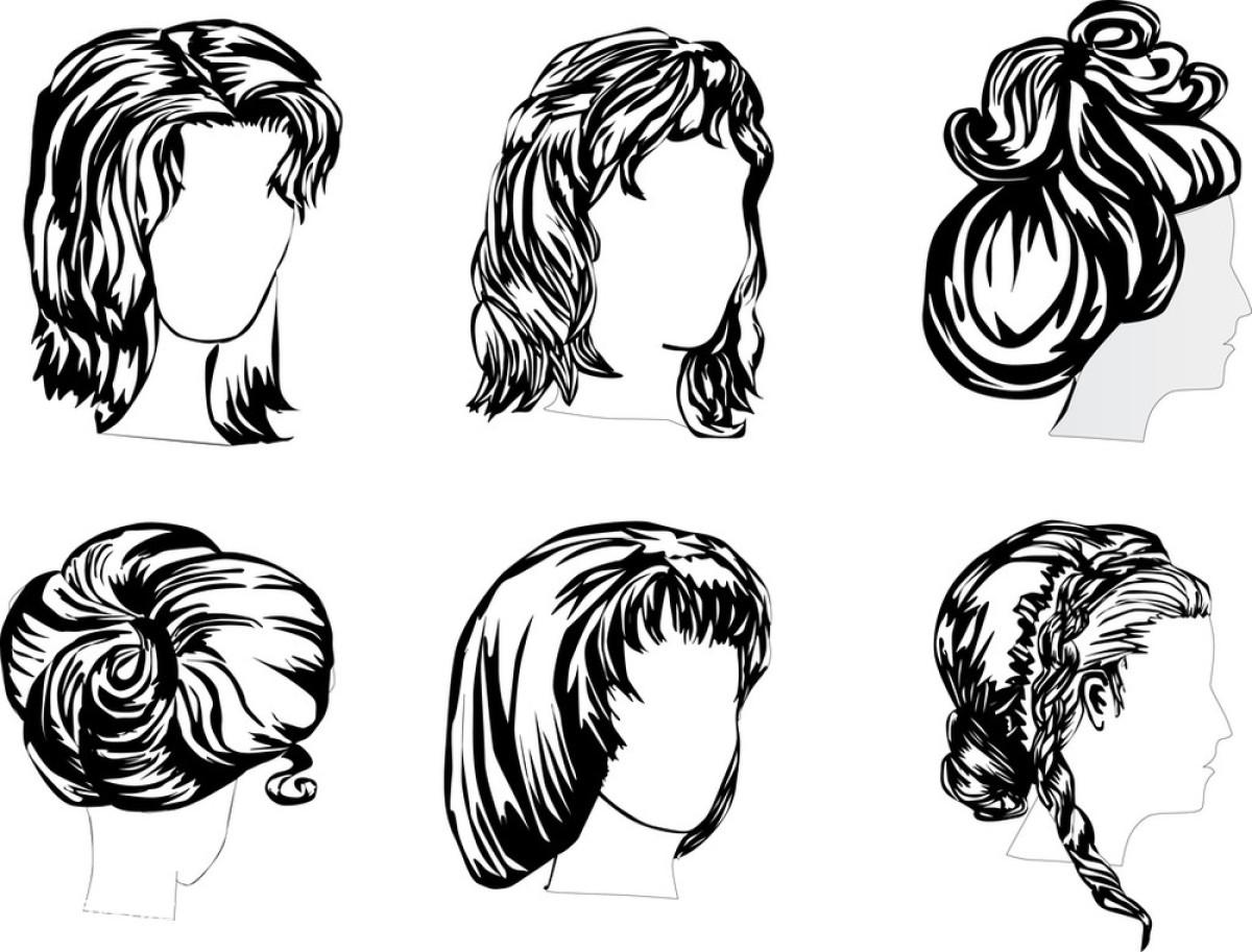 动物,发型,高雅,黑色,绘画插图,假发,卷发,蜡纸,女孩,女士,女性,铅笔图片