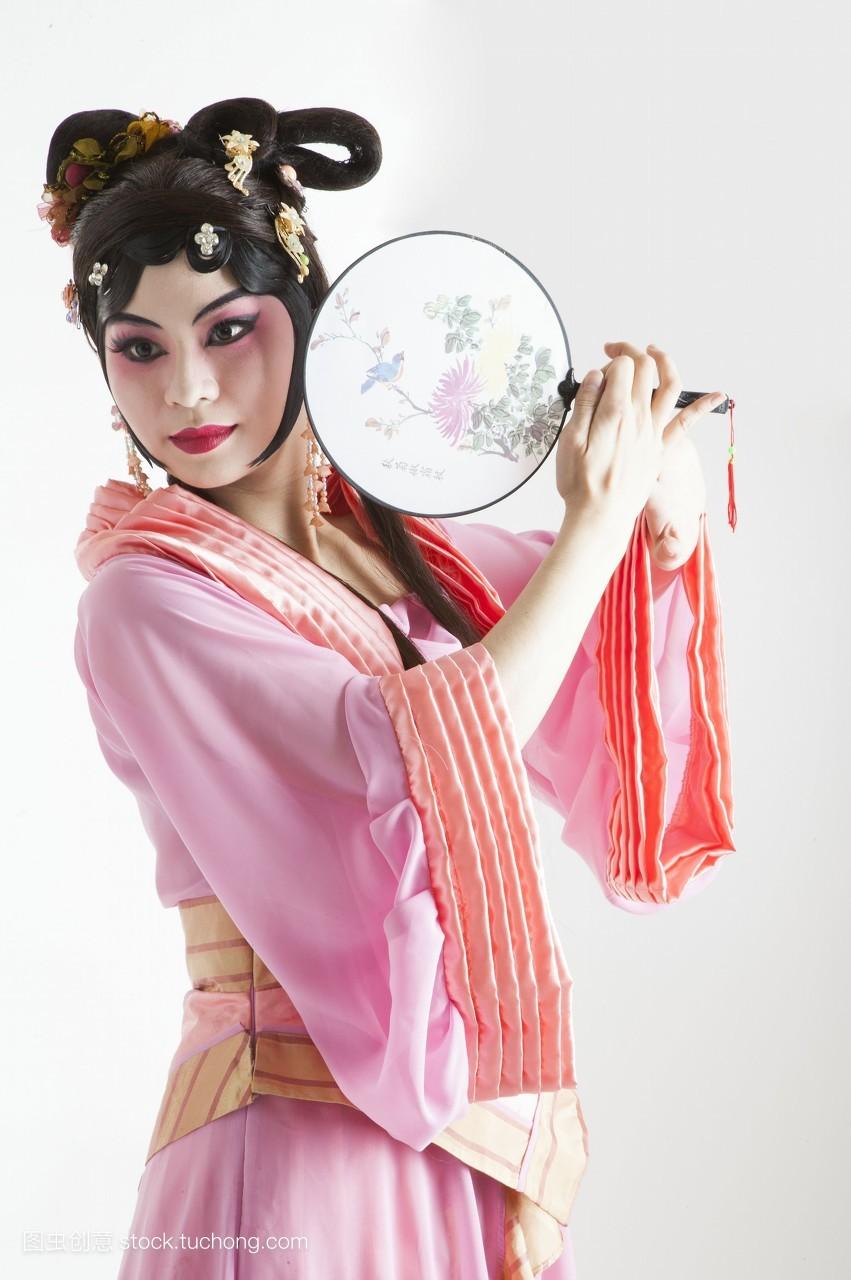 中国,女人,真人,只有成人,只有女人,亚洲,古装,艺术家,艺术,脸谱,舞图片